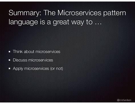 pattern language for microservices a pattern language for microservices futurestack