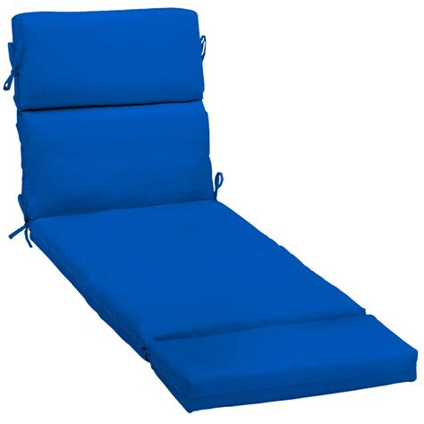 blue chaise lounge cushions shop pacific blue patio chaise lounge cushion at lowes com