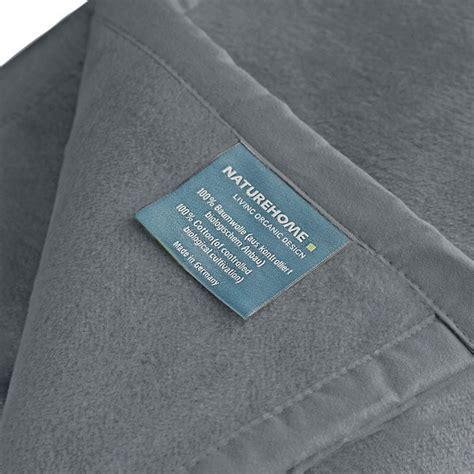 wohndecke grau baumwolle naturehome wohndecke kuscheldecke ole 150x200cm aus 100