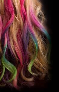 multi hair color of the day dip dye hair bachelorette lifestyle