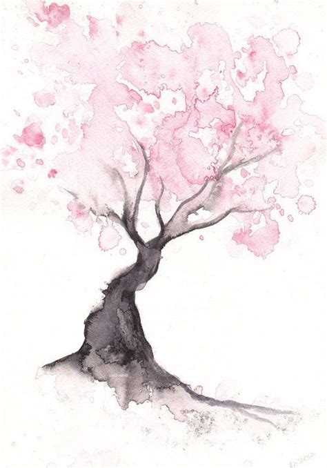 watercolor cherry blossom tattoo 25 best ideas about cherry blossom painting on
