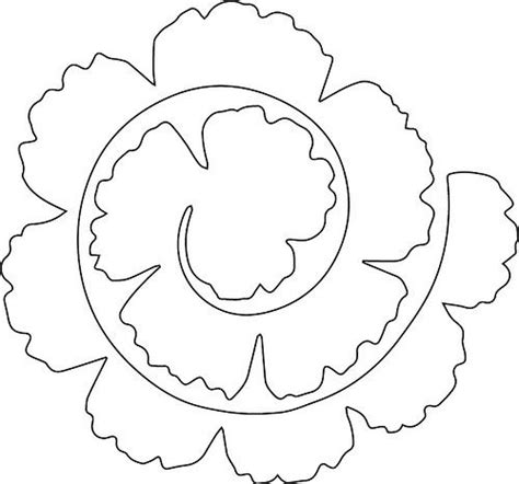 3d paper flowers template 25 best ideas about flower template on paper