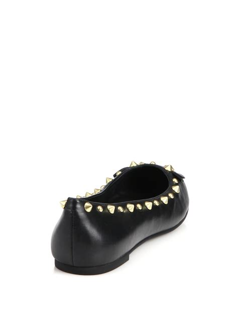 marc by marc flat shoes marc by marc studded leather mouse ballet flats in