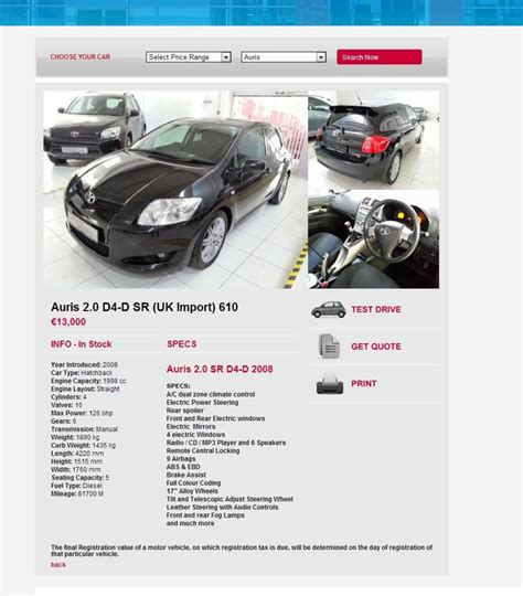 toyota company website portfolio corporate toyota used cars application