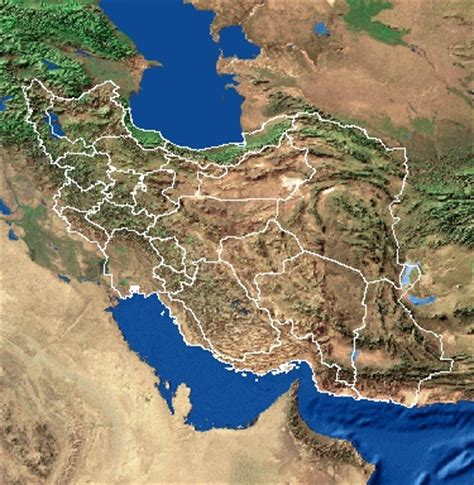 satellite map of iran images and places pictures and info iran map cat