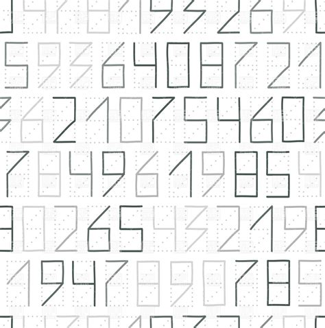 number pattern code zip code numbers seamless pattern with numerals vector