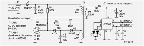 lithium battery charger schematic complete li ion battery charger system