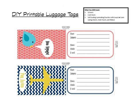 Luggage Tag Template Cyberuse Luggage Tag Template Word