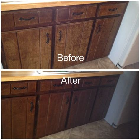 kitchen cabinet stain kit my worn kitchen cabinets stained with minwax gel stain in