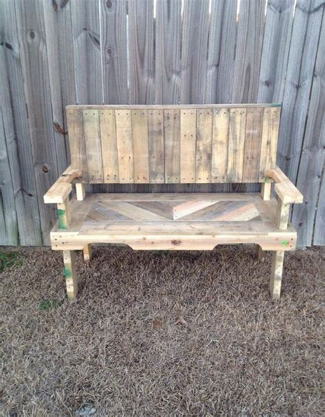 pallet bench ideas pallets made garden chair bench pallet ideas recycled