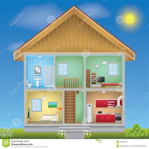house interior vector detailed house interior royalty free stock photo image 32419225