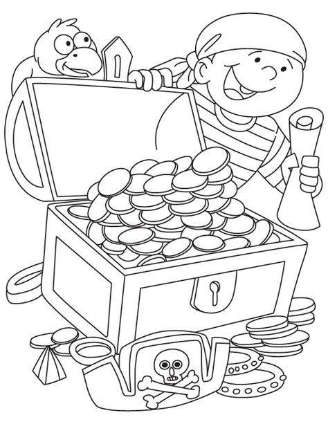 Pirate Treasure Coloring Page Coloring Home Free Pirate Coloring Pages For Coloring Home