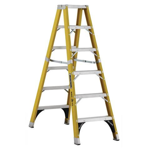 Foot Step Model Wing louisville ladder 6 ft fiberglass step ladder with