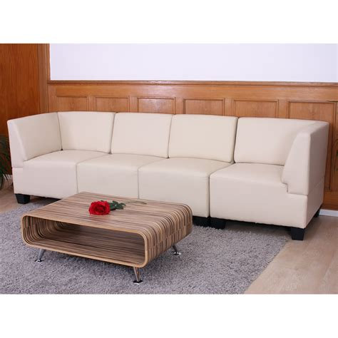 sofa viersitzer modular viersitzer sofa lyon kunstleder schwarz