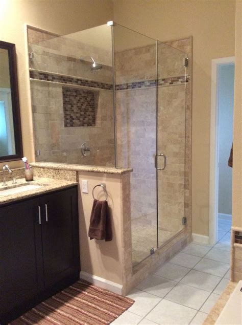 bathroom ideas shower only newly remodeled stand up shower with beautiful tile work