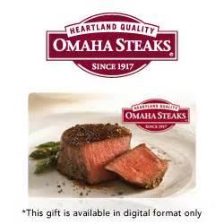 buy omaha steaks gift cards at giftcertificates com - Omaha Steaks E Gift Card