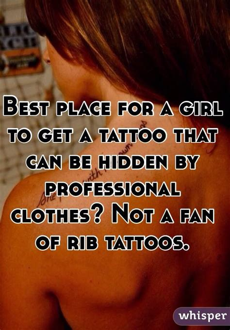 places to get tattoos that can be hidden best place for a to get a that can be