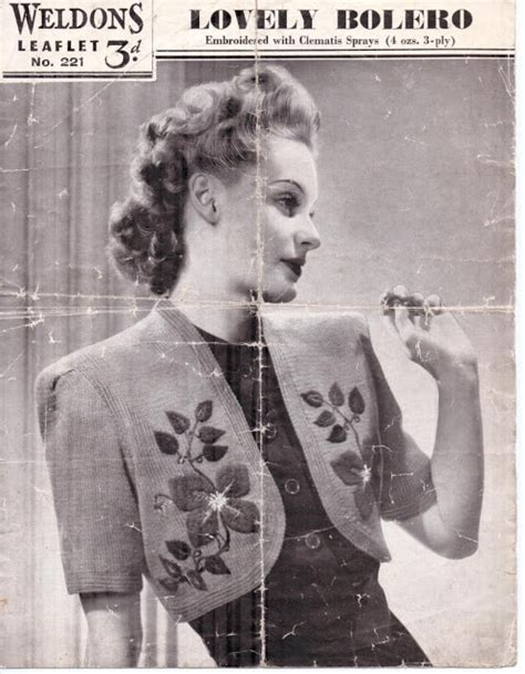 1940 knitting patterns free the vintage pattern files 1940s knitting weldons lovely