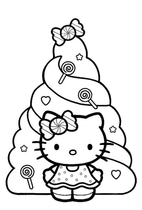 coloring pages of hello kitty christmas hello kitty christmas coloring sheets
