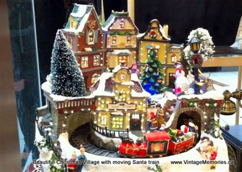 holiday memories lighted village and train music box vintage memories villages