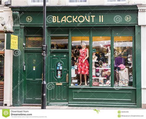 storefront blackout ii vintage clothing covent