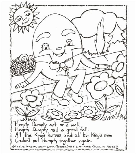 coloring book lyrics no problem humpty dumpty coloring pages coloring home