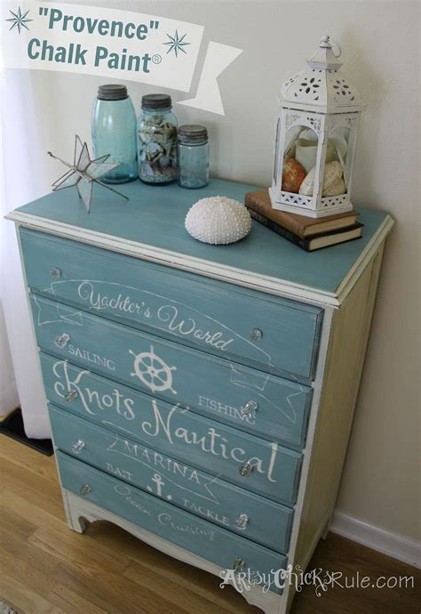 chalk paint in stores hometalk coastal themed thrift store dresser graphics