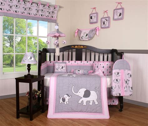 purple elephant crib bedding boutique elephant geenny 13p crib bedding set ebay