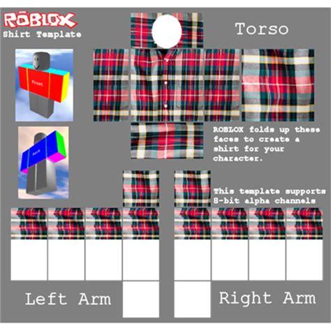 Plaid Shirt Template Roblox Roblox Shirt Design Template