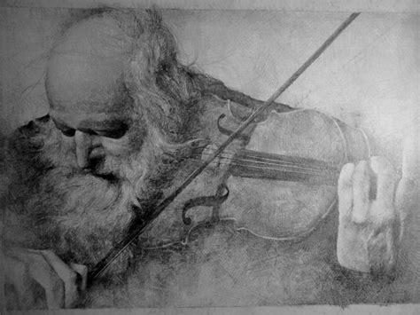 imagenes a lapiz de violines grafito anciano viol 237 n dibujo pinterest