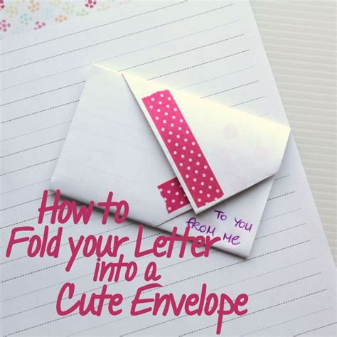 How To Fold A Paper Into A Letter - 1000 images about folded letters on