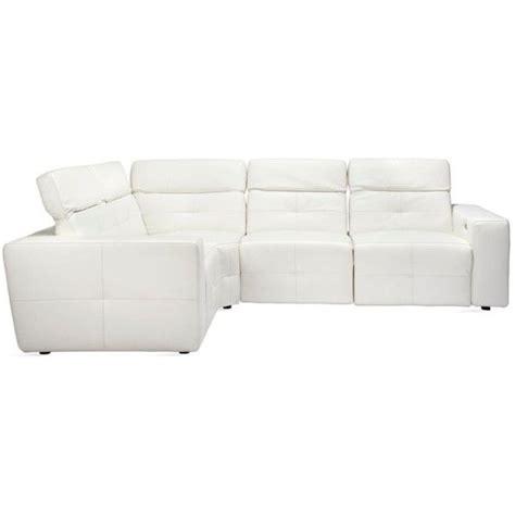 White Leather Modular Sofa Milan Modular Sectional Leather Z Gallerie 4 496