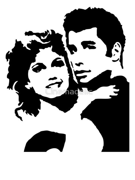 Wall Stickers Marilyn Monroe quot john travolta grease quot art prints by cinemadelic redbubble