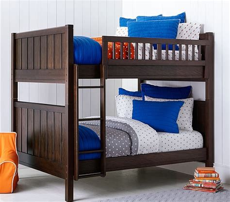 full over full bunk beds with storage c full over full bunk bed pottery barn kids
