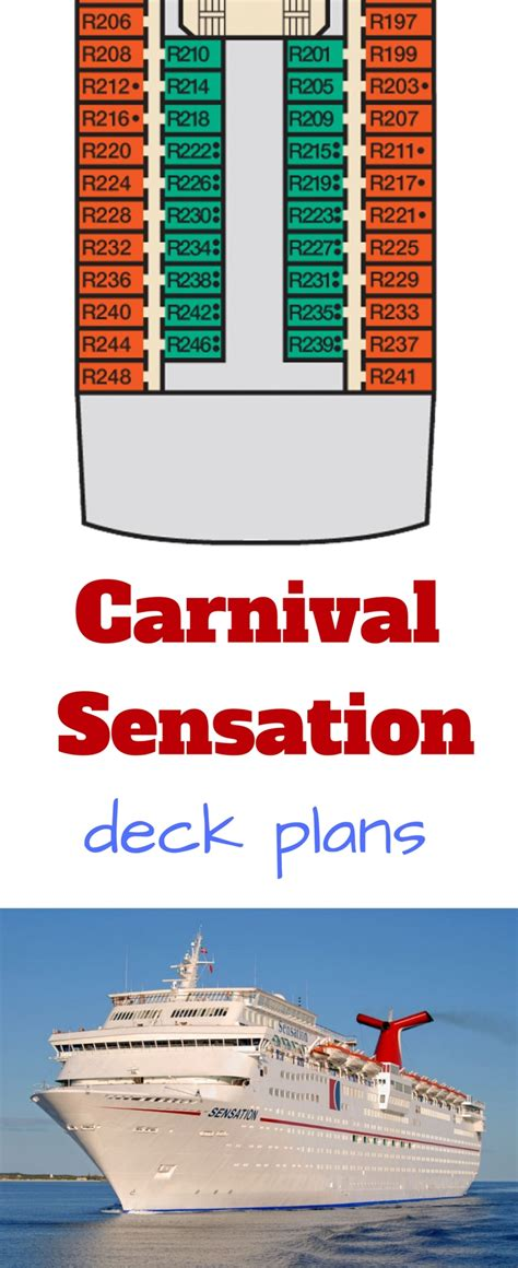 carnival sensation floor plan carnival sensation deck plans cruise radio