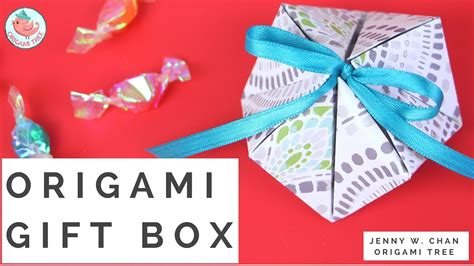 How To Make Gift Box With Paper - origami gift box one 1 sheet of paper how to make a