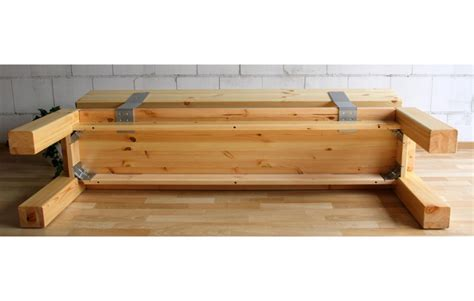massivholz bank mit lehne sitzbank 180x86x47cm mit r 252 ckenlehne kiefer massiv