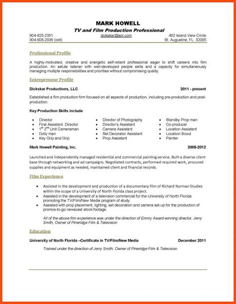 Resume One Page Template by One Page Resume Template Program Format