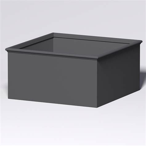 Commercial Fiberglass Planters by Tuscana Fiberglass Commercial Planter 72in L X 72in W X 36in H