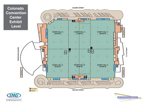 denver convention center floor plan event center space exhibit hall colorado convention