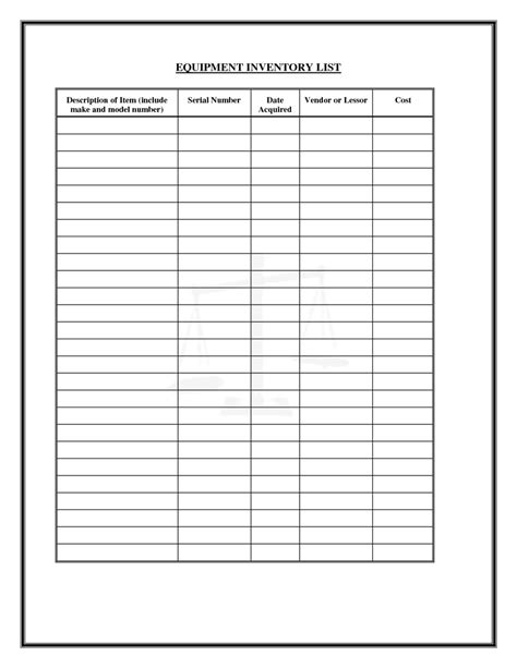 medical supply inventory template spreadsheets