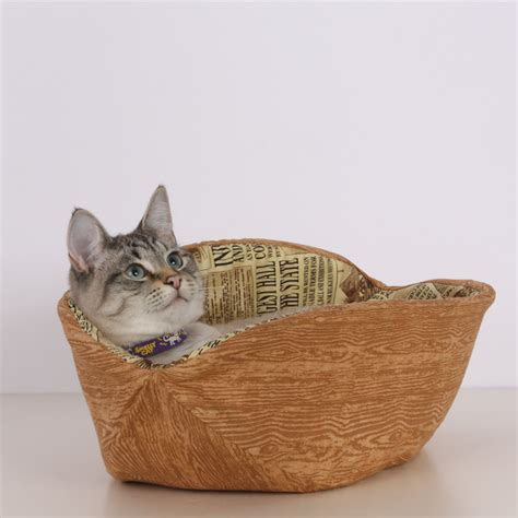 unique cat beds cat canoe a unique modern kitty pet bed in faux bois and