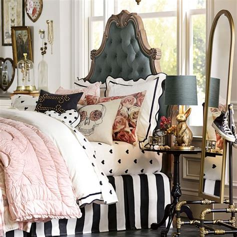 pottery barn teen headboard create a chic glam space with emily meritt s pottery