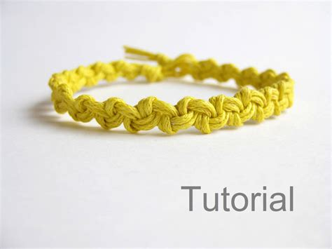 Easy Macrame Bracelet Patterns - macrame bracelet pattern tutorial pdf easy yellow how to