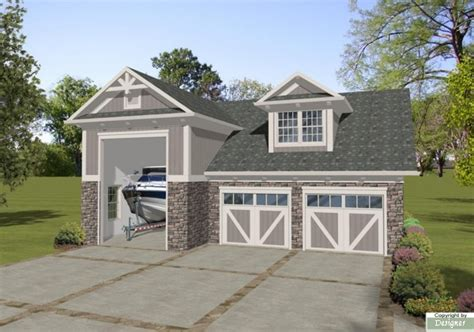 house plans with rv garage boat rv garage office 3069 1 bedroom and 1 bath the house designers