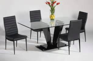 Modern Chairs For Dining Table Refined Glass Top Leather Italian Modern Table With Chairs Contemporary Dining Tables