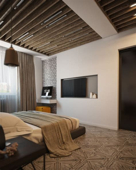 Interior Design For Bedroom Ceiling by Wood Beam Bedroom Ceiling Interior Design Ideas