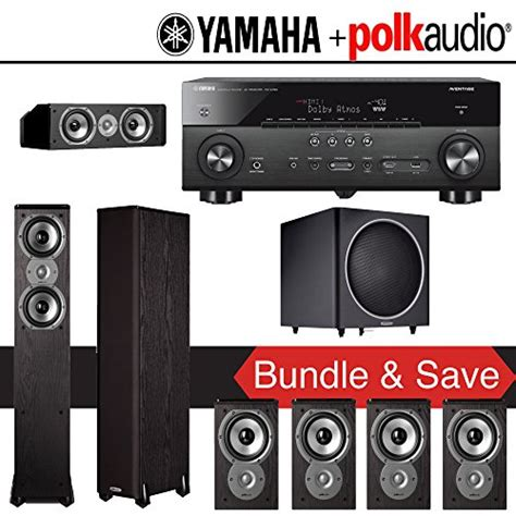 polk audio tsi 300 7 1 ch home theater system with yamaha