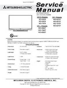Mitsubishi Wd 73837 Mitsubishi Wd 73837 Service Manual Scaricare