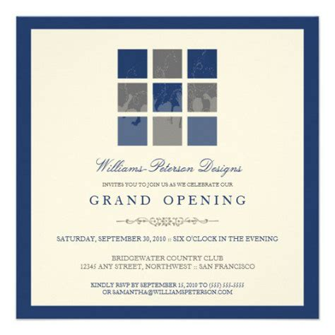 Grand Opening Ceremony Invitation Opening Ceremony Invitation Card Template